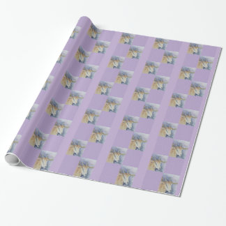 Papel de embalaje de la cabra de la acuarela papel de regalo