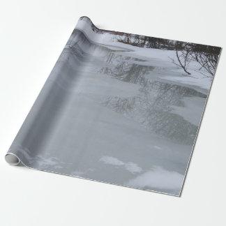 """Papel de embalaje de la escena del invierno, 30"""" x"""