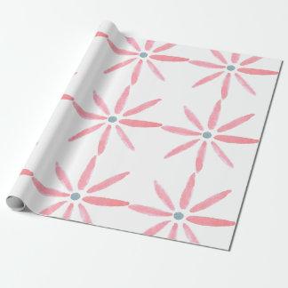 Papel de embalaje de la flor del Watercolour