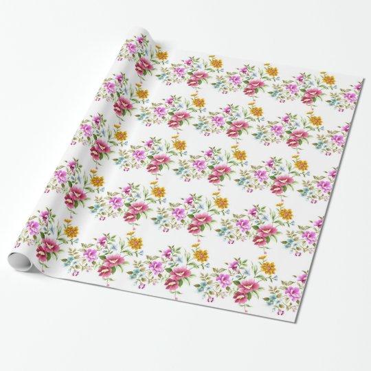 Papel de embalaje de la flor salvaje papel de regalo