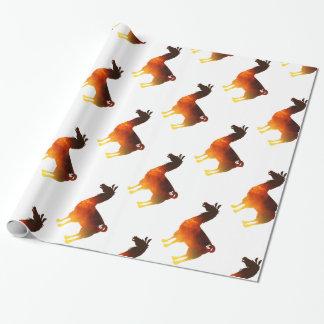 Papel de embalaje de la llama del fuego papel de regalo