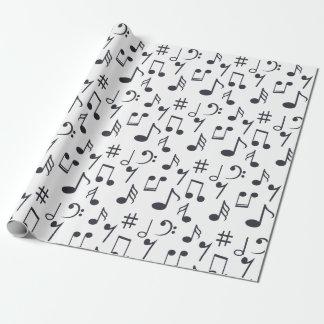 Papel de embalaje de la nota de la música