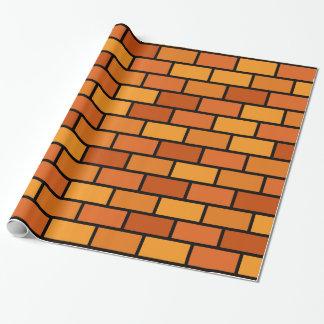 Papel de embalaje de la pared de ladrillo