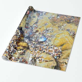 Papel de embalaje de la piscina de la marea