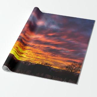 Papel de embalaje de la puesta del sol