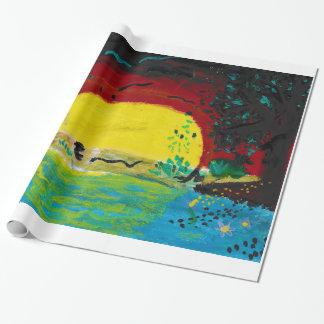 papel de embalaje de la salida del sol