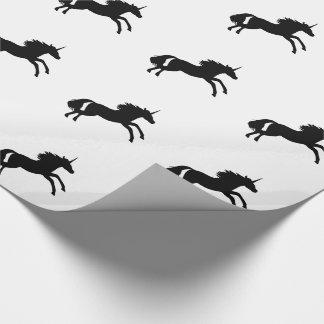 Papel de embalaje de la silueta del unicornio - papel de regalo