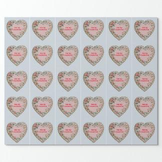 Papel de embalaje de la tarjeta del día de San