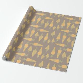 Papel de embalaje de la zanahoria papel de regalo