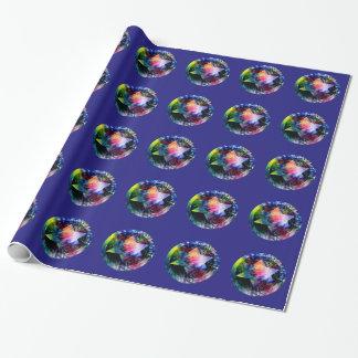 Papel de embalaje de las estrellas del arco iris
