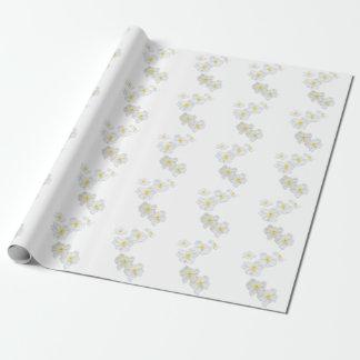 Papel de embalaje de las flores blancas papel de regalo