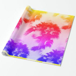 Papel de embalaje de las palmeras