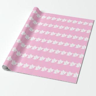 Papel de embalaje de las rayas del rosa en colores