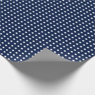 Papel de embalaje de los azules marinos con los papel de regalo