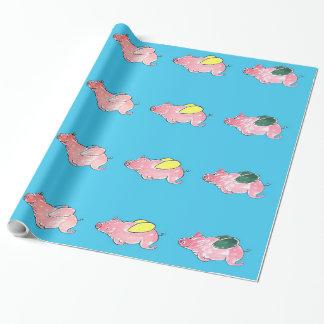 Papel de embalaje de los cerdos del vuelo