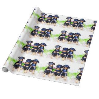Papel de embalaje de los perritos de Pinscer del