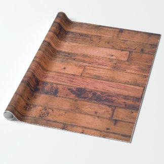 Papel de embalaje de madera de la plataforma papel de regalo