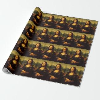 Papel de embalaje de Mona Lisa de Leonardo da
