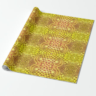 Papel de embalaje de oro papel de regalo