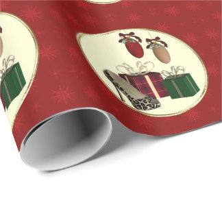 Papel de embalaje de regalos de vacaciones del