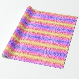 Papel de embalaje del arco iris papel de regalo