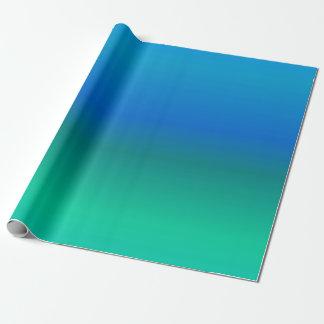Papel de embalaje del azul y del trullo