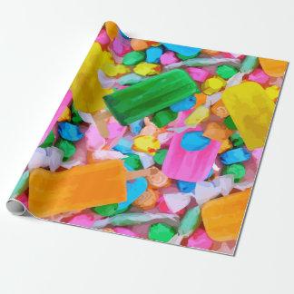 Papel de embalaje del caramelo