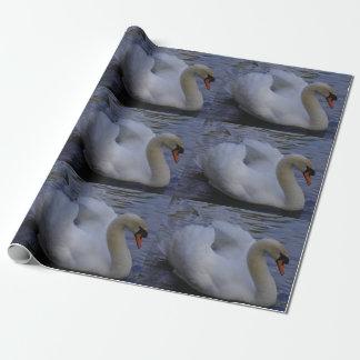 Papel de embalaje del cisne papel de regalo