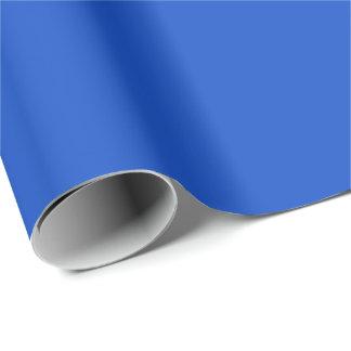 Papel de embalaje del color sólido en azul real