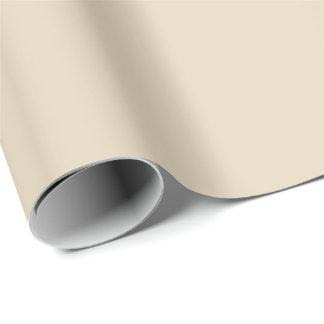 Papel de embalaje del color sólido en beige
