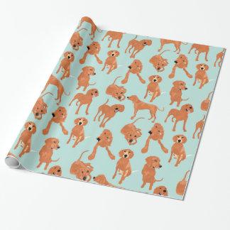 Papel de embalaje del Coonhound de Redbone Papel De Regalo
