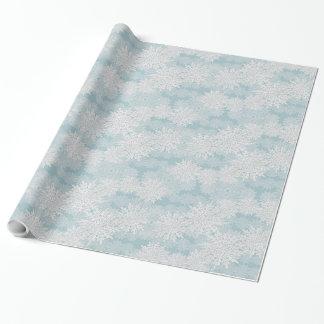 Papel de embalaje del copo de nieve papel de regalo