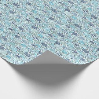 Papel de embalaje del diseño del paraguas