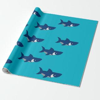Papel de embalaje del diseño del tiburón