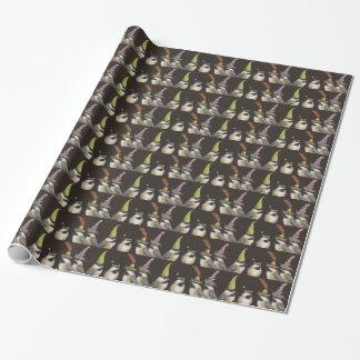 papel de embalaje del fiesta del chickadee papel de regalo