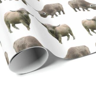 Papel de embalaje del frenesí de la vaca de la papel de regalo
