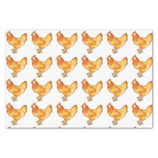 Papel de embalaje del gallo