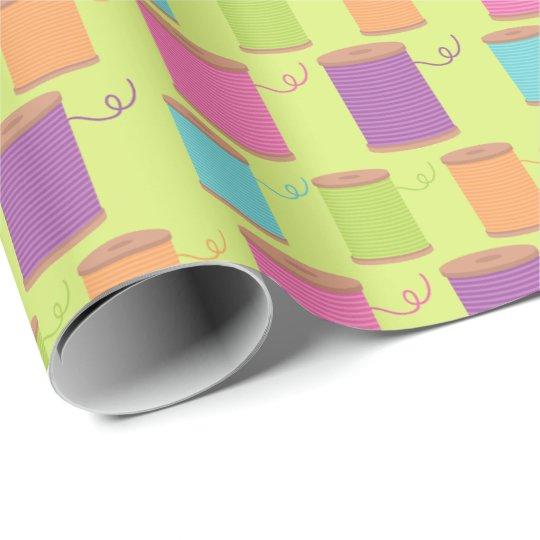 Papel de embalaje del modelo del hilo de coser papel de regalo