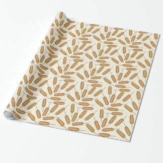 Papel de embalaje del modelo del perro de maíz de papel de regalo