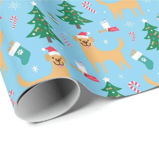 Papel de embalaje del navidad de Labrador