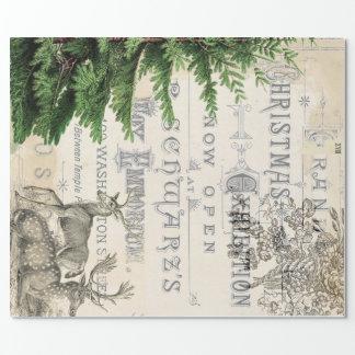 Papel de embalaje del navidad de las Ephemeras Papel De Regalo