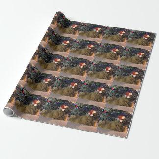 Papel de embalaje del navidad de Leonberger