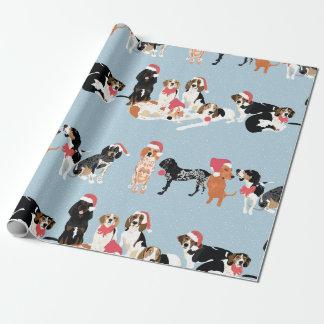 Papel de embalaje del navidad del Coonhound