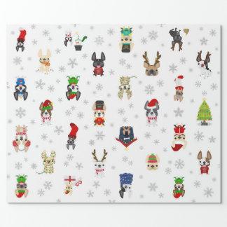 Papel de embalaje del navidad del día de fiesta papel de regalo