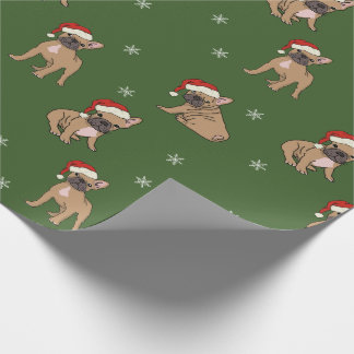 Papel de embalaje del navidad del dogo francés
