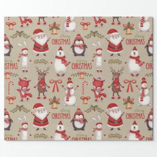 Papel de embalaje del navidad papel de regalo