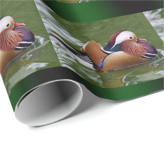 Papel de embalaje del pato de mandarín