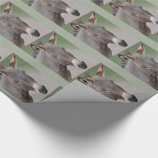 Papel de embalaje del retrato del burro papel de regalo