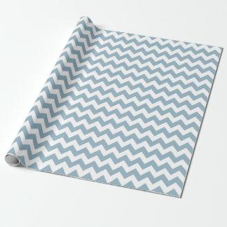 Papel de embalaje del zigzag de Chevron del azul