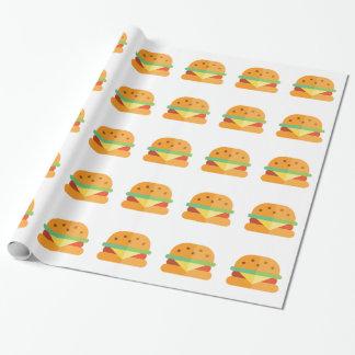 Papel de embalaje divertido del cheeseburger para